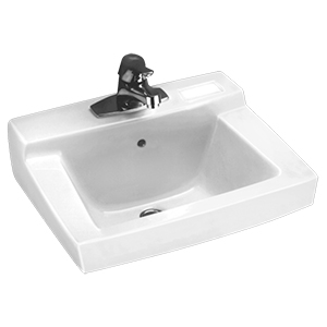 "Declyn White Wall Mounted 4"" Centers Lavatory Sink"