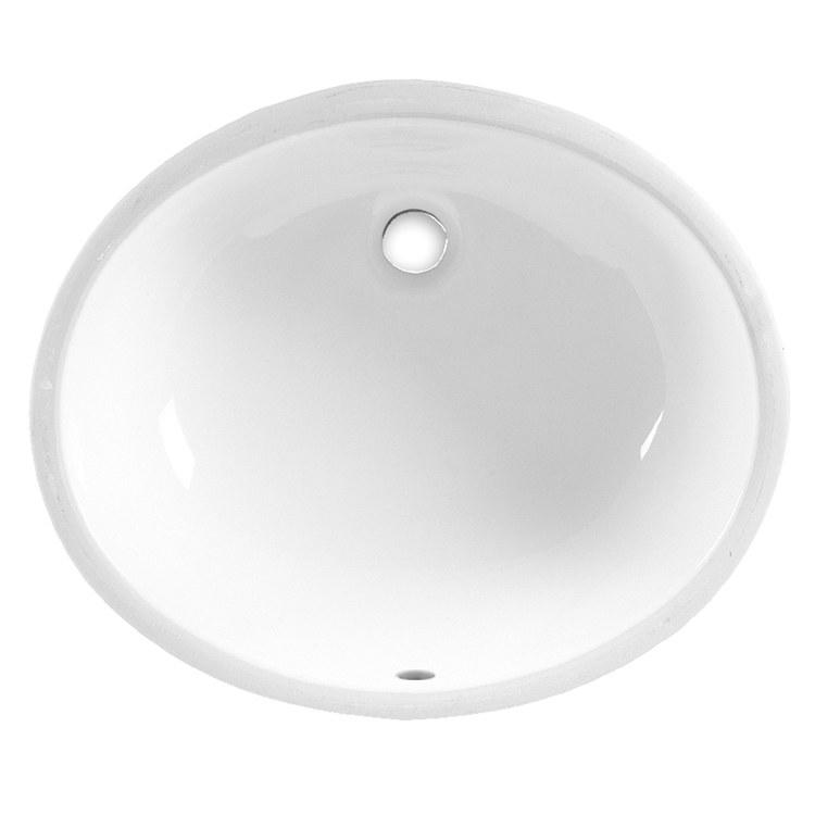 Ovalyn White Oval Undermount Lavatory Sink