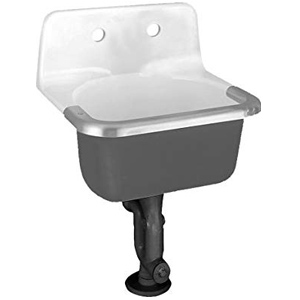 Lakewell Cast Iron Wall Mounted Service Sink With 8 Inch Faucet Hole