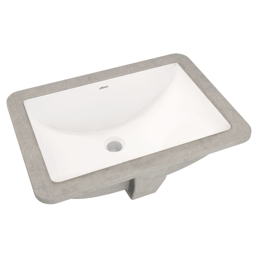 Studio White Rectangular Undermount Lavatory Sink