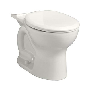 Right Height Round Front Toilet Bowl with two (2) bolt caps In White