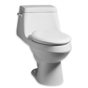 "Fairfield White 1.28gpf 12"" Rough In Elongated Front One Piece Toilet With Seat High Efficiency Toilet"