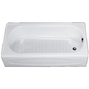 New Salem White Right Hand Drain Steel Tub