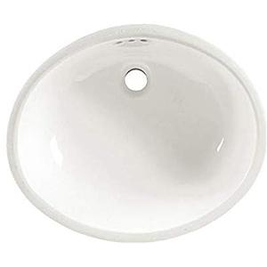 Ovalyn White Oval Undermount Lavatory Sink