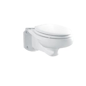 Glenwall White 1.6gpf Pressure Assisted Handicap ADA Wall Mounted Back Outlet Elongated Front Bowl