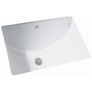 Studio White Rectangular Glazed Underside Undermount Lavatory Sink