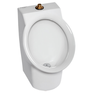 Decorum Pint White 0.125gpf Wall Mount Top Spud Urinal Uheu