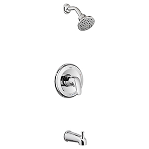 American Standard Colony Pro Bath/shower Trim Kit With Water Saving Shower Head, Without Valve Body. 1978904