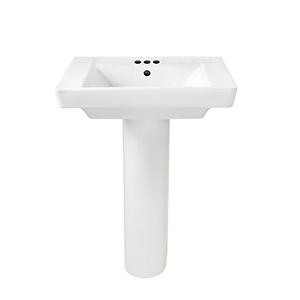 Tropic / Boulevard White Pedestal Leg
