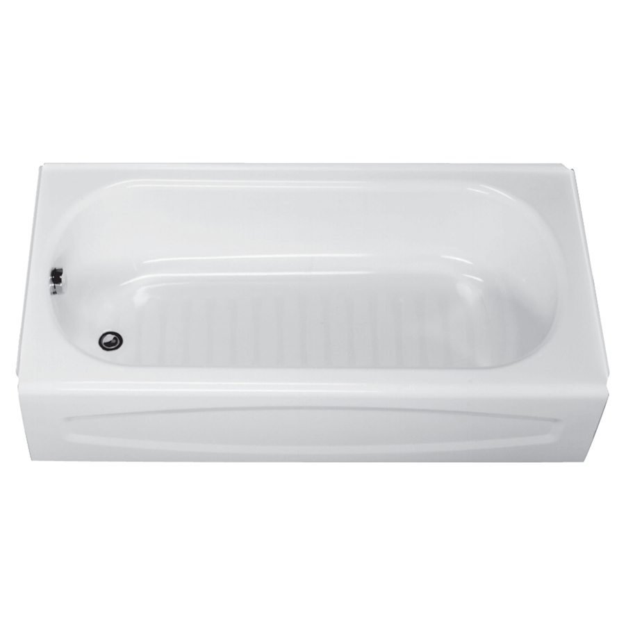 New Salem White Left Hand Drain Steel Tub