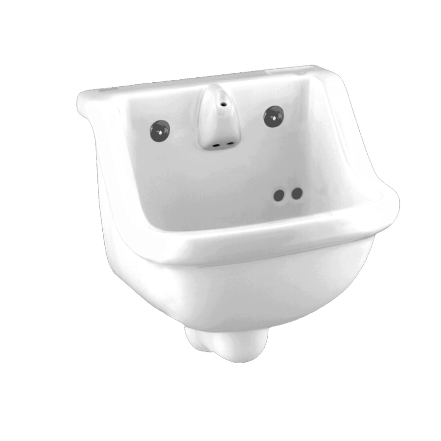 Prison White Wall Mounted Lavatory Sink With Spout And Drain