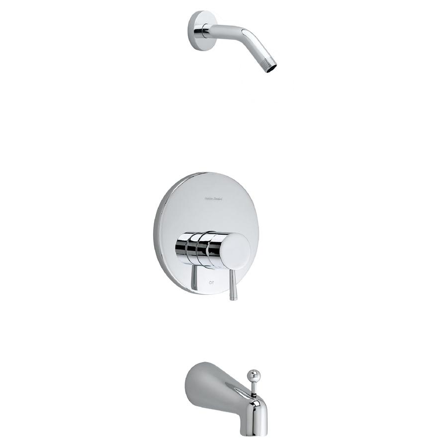 Serin Bath/shower Trim Kit In Polished Chrome