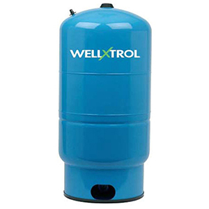 "Diaphragm Well Tank, 22"" X 36"", 1-1/4"" MPT X 1-1/4"" MPT, 44 Gallon, 150 PSI, Lead-free, Tuf-kote Hg Blue Steel, Vertical, Stand"