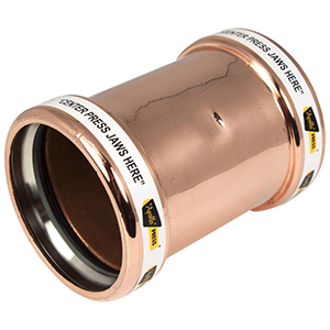 """4"""" Wrot Copper Press Coupling with Street"""