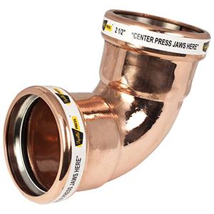 """4"""" x 2 ½"""" Copper Short Radius 90 Degree Elbow"""