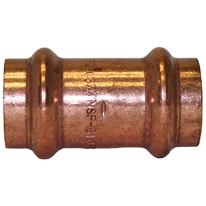 "¾"" Wrot Copper Press Coupling with Street"