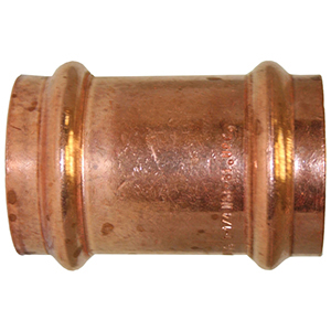 "½"" Copper Press Coupling (Less Street)"