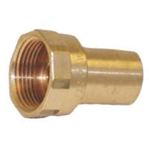 """½"""" FTG x FPT  Brass Female Street Small Diameter Straight Female Adapter with EPDM O-ring Lead Free"""