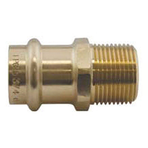 "¾"" Press x Male Threaded Brass Adapter"