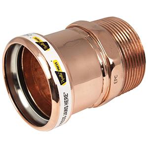 "1 ¼"" Press x Male Threaded Brass Adapter"