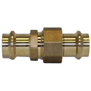 """1 ¼"""" Brass Press Union"""