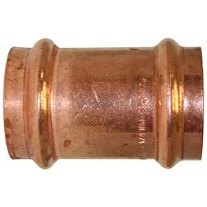 "1 ½"" Press Copper Coupling (Less Stop)"