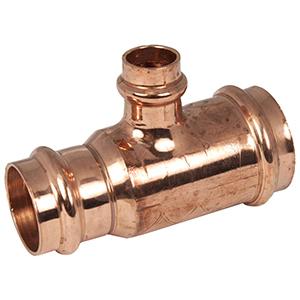 "1"" x ¾"" x ¾"" Copper Press Reducing Tee"