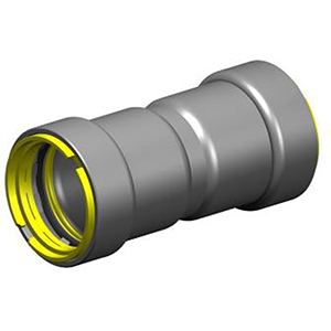 "1 ¼"" Press Carbon Steel Coupling with Stop and HNBR Seal"