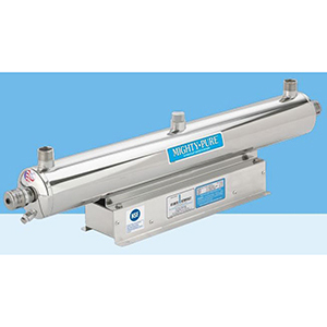 """Atlantic Ultraviolet 1"""", MPT, 220 VAC 60 Hz, 0.42 A, 48 W, 12 GPM , 316 Stainless Steel Chamber, Ultraviolet Water Purifier"""
