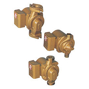 """3/4 To 1-1/2"""", Flanged X Flanged, 115 VAC 60 Hz 1-phase, 0.8 A, 92 W, 150 PSI, 22 GPM , 2940 RPM, 15' Discharge Head, Lead-free, Bronze, In-line, Wet Rotor, Circulator Pump"""