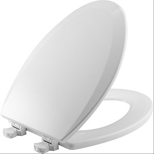 White, Closed Front, Elongated, 1500EC, Wood Toilet Seat