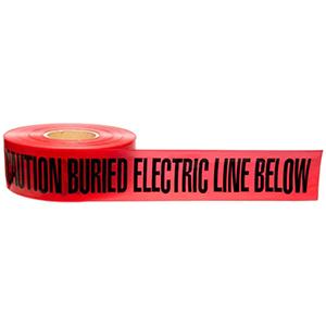 Brady 1000' Red Caution Tape 507291