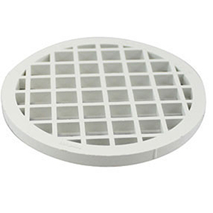 "Canplas Termination Screen For Venting System 3"" Diameter, White, Polypropylene"
