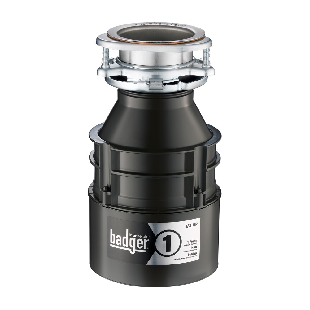 Insinkerator Badger 1 Garbage Disposal, 1/3 HP