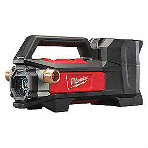 "Cordless Transfer Pump, No Battery Included, Reinforced Nylon, 3/4"" MNPT Discharge"