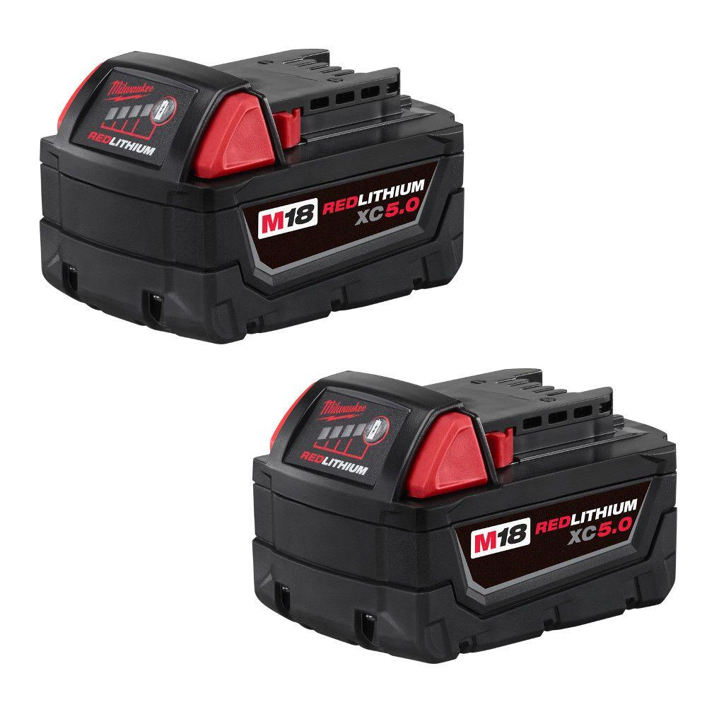 M18 Redlithium 5.0 Ah Battery - 2 Pack