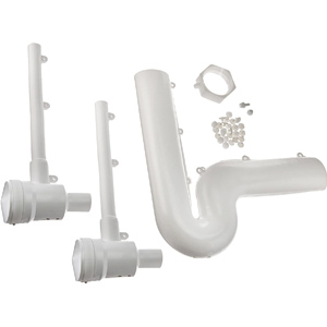 White, PVC, 1-piece, Cover Kit With P-TRAP Cover/(2) Valve And Supply Cover For Under Bathroom Sink
