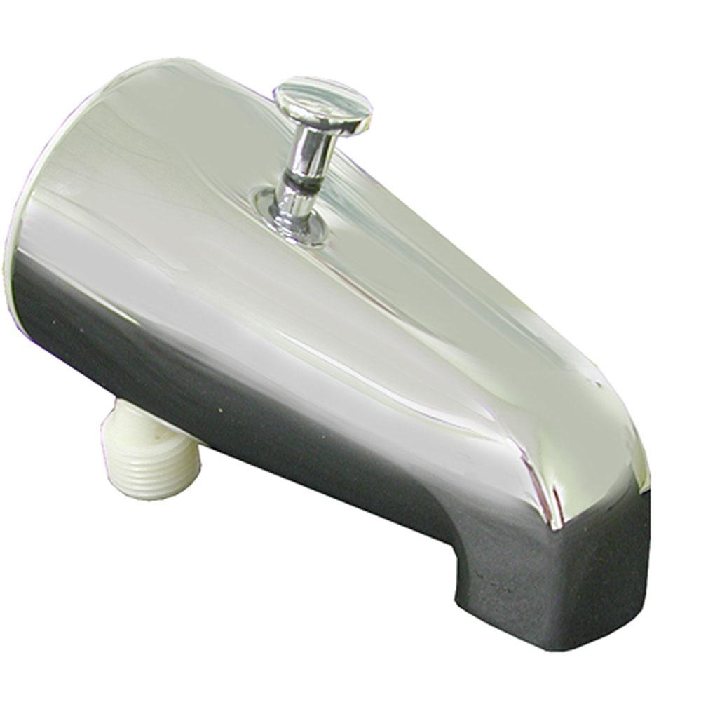 "Chrome Plated 1/2"" X 3/4"" FIP Diverter Tub Spout"
