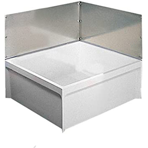 "Wall Guard With 24"" X 12"" Stainless Steel Panel/corner Bracket For Mop Service Basin"