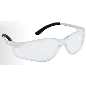 Safety Glasses Clear Frame, Clear High Impact Polycarbonate Wrap Around/Single Lens