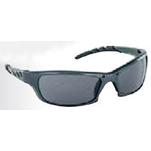 Safety Glasses Charcoal Frame, Gray High Impact Polycarbonate Wrap Around Lens