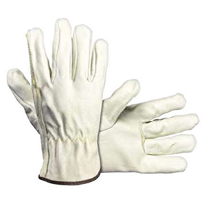 SAS Safety Driver Gloves Large, Tan, Top Grain Pigskin, Leather, Straight Thumb 2104455