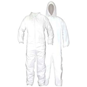 SAS Safety Coverall Large, White, Cloth-like Fabric, Crew 2104421