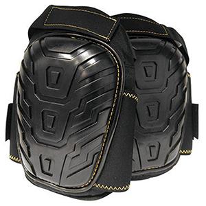 SAS Safety Knee Pad Large, Black, Foam, Hook And Loop Mount, Deluxe Gel Filled 2104470