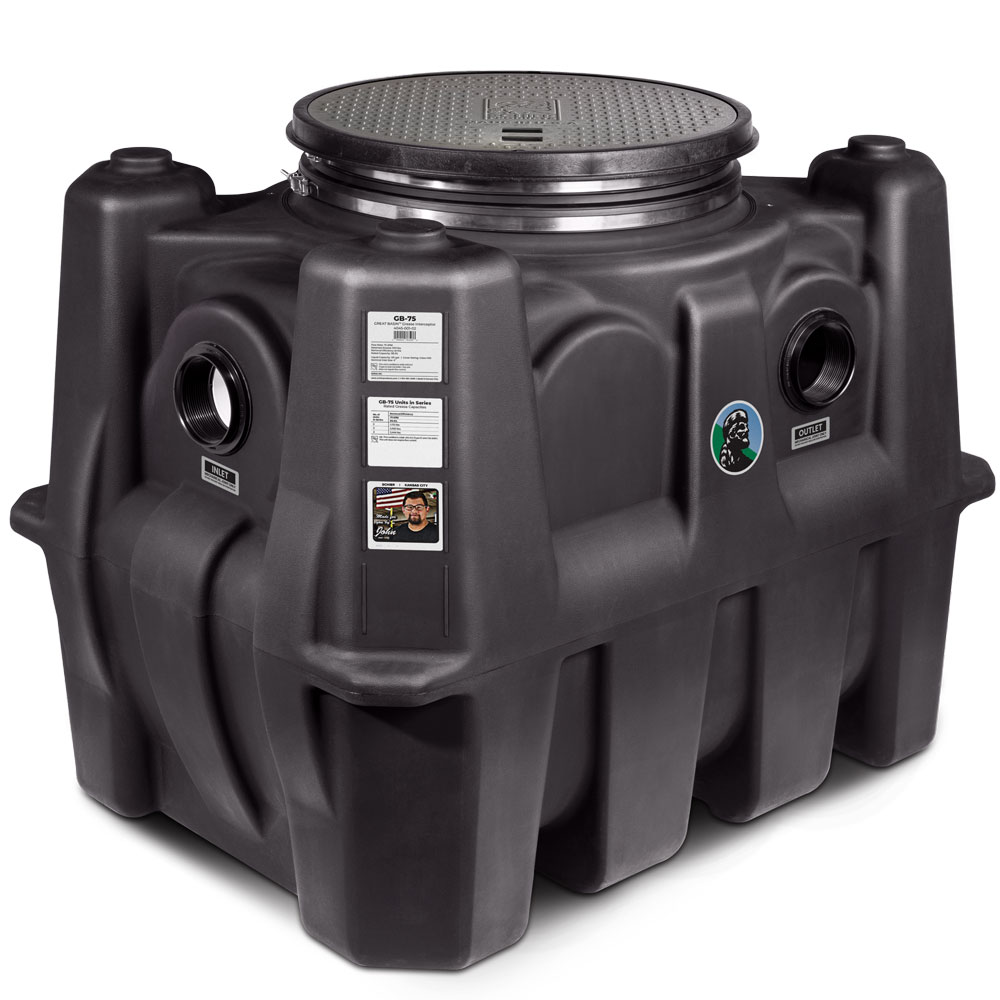 GB-75 - 75 GPM Great Basin™ Indoor/Outdoor High Capacity Grease Interceptor