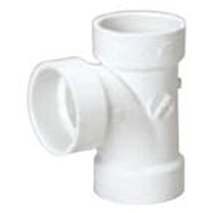 """1 ½"""" Hub PVC DWV Straight Sanitary Tee"""
