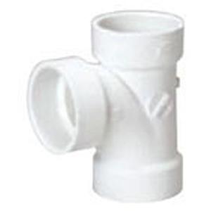 """3"""" Hub PVC DWV Straight Sanitary Tee"""