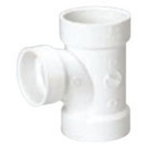 "3"" x 3"" x 1 ½"" Hub PVC DWV Reducing Sanitary Tee"