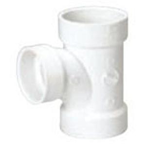 """4"""" x 4"""" x 3"""" Hub PVC DWV Reducing Sanitary Tee"""