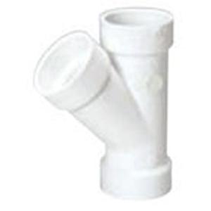 "4"" Hub PVC DWV Straight Sanitary Wye"